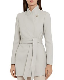 REISS - Clarence Belted Satin Jacket