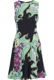 ETRO Fluted printed crepe dress