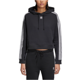 adidas Originals Adicolor 3 Stripe Cropped Hoodie