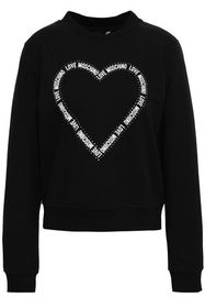 LOVE MOSCHINO Crystal-embellished printed cotton-b