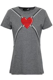 LOVE MOSCHINO Mélange printed cotton-jersey T-shir