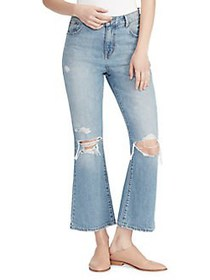 Ella Moss High-Rise Cropped Jeans SESSILE BLUE