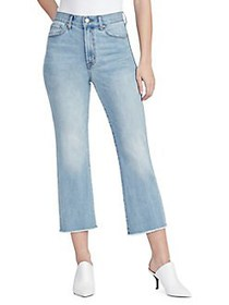 William Rast High-Rise Flare Cropped Jeans FOREVER