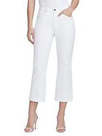 William Rast High-Rise Flare Cropped Jeans BRIGHT
