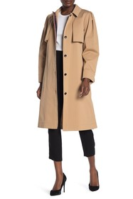 BCBG Belted Long Trench Coat
