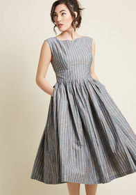 ModCloth ModCloth Fabulous Fit and Flare Dress wit