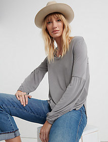 Lucky Brand Sandwash Volume Sleeve Top