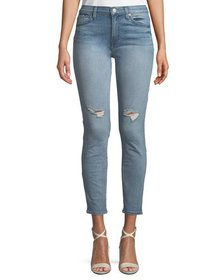 7 For All Mankind Gwenevere Distressed Skinny Ankl