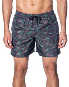 Jared Lang Men's Multicolor Swirl-Print Swim Short
