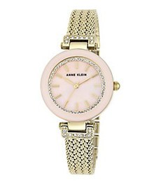 Anne Klein Braided Round Watch GOLD