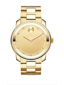 Movado Bold IP Gold Stainless Steel Bracelet Watch