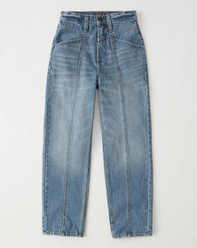 Ultra High Rise Relaxed Mom Jeans, MEDIUM WASH