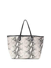 Steve Madden Blindy Animal Print Tote Bag NATURAL