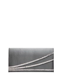 Nina Crystal Embellished Clutch STONE