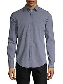 BOSS Ronni Printed Button-Down Shirt STORMY BLUE