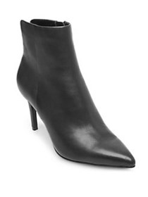 Steven by Steve Madden Leila Leather Booties BLACK