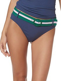Jessica Simpson Belted Bikini Bottom DARK NAVY