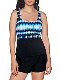Reebok Essentials Sonic Attack Tankini Top BLUE