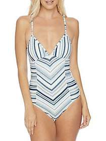 Splendid Line Of Sight One-Piece Swimsuit CHAMBRAY
