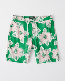 Classic Boardshorts, BLUE AND WHITE FLORAL