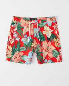 Classic Swim Shorts, MED BROWN PATTERN
