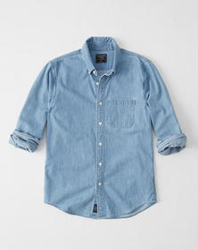 One-Pocket Denim Shirt, CHAMBRAY