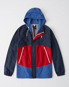 Classic Windbreaker, BLUE AND RED