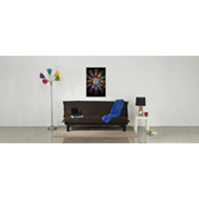 """Home Floor Lamp Shade Multi-Color 5 Arm 67"""", Silve"""