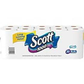 Scott 1-Ply Standard Toilet Paper, White, 1000 She