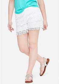 Justice Tiered Crochet Shorts