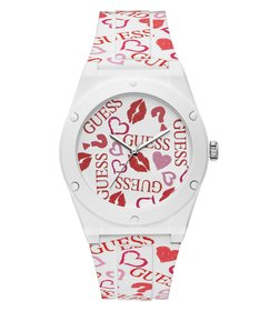 Guess Retro Silicone Heart Watch