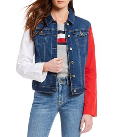 Tommy Hilfiger Contrast Sleeve Denim Jacket