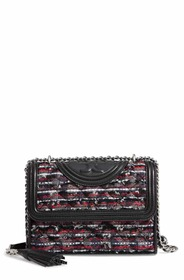 Tory Burch Small Fleming Tweed Convertible Shoulde