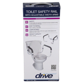 Drive Toilet Safety Rails With Adjustable Width Ar