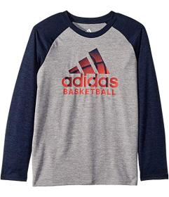 adidas Raglan Performance Logo Tee (Toddler/Little