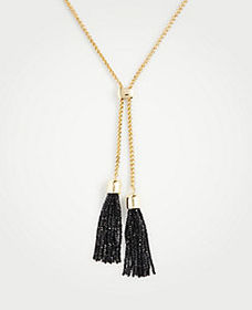 Double Pearlized Tassel Pendant Necklace