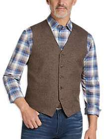 Joseph Abboud Brown Modern Fit Vest