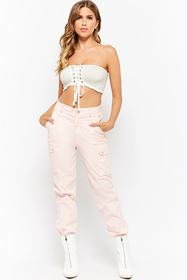 Forever21 Smocked Cropped Tube Top