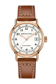 Hamilton Men's Khaki Navy Pioneer Leather Watch