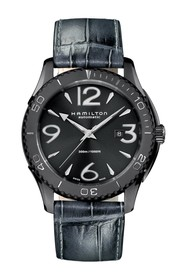Hamilton Men's Jazzmaster Seaview Leather Watch