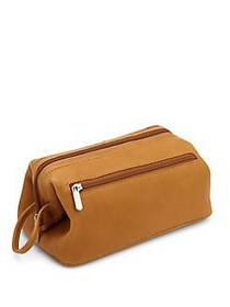 ROYCE New York Leather Toiletry Bag TAN