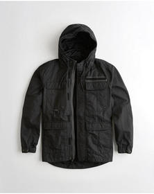 Hollister Utility Jacket, BLACK