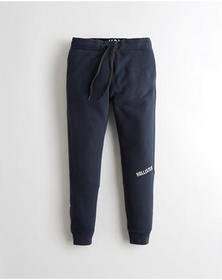 Hollister Fleece Jogger Pants, NAVY