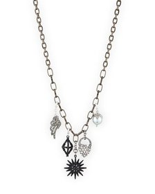 Lulu Frost Hematite Charm Necklace