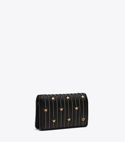 Tory Burch FLEMING STAR-STUD SLIM MEDIUM WALLET