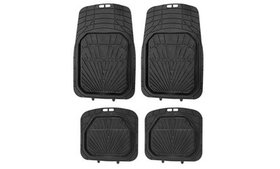 ZYY 4-Piece All-Weather Black Odorless Rubber 3D C