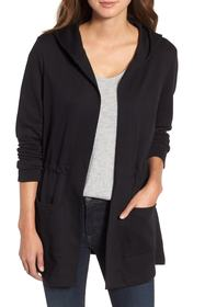 Caslon Caslon(R) Hooded French Terry Cardigan (Reg