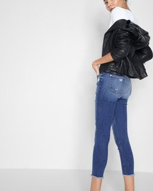 7 For All Mankind High Waisted Ankle Skinny with R