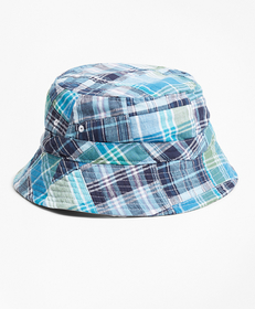 Brooks Brothers Reversible Patchwork Cotton Bucket