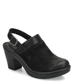 Born Vidar Distressed Suede and Leather Slingback